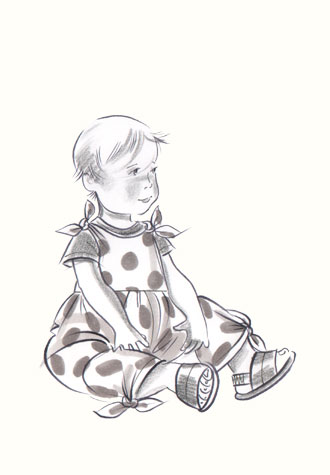 Hilary Kidd Fashion Illustrator Childrenswear Babies Toddlers