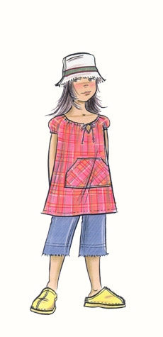 Hilary Kidd Fashion Illustrator Childrenswear Pre Teens
