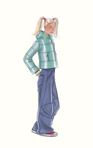 Hilary Kidd Fashion Illustrator Childrenswear Teens