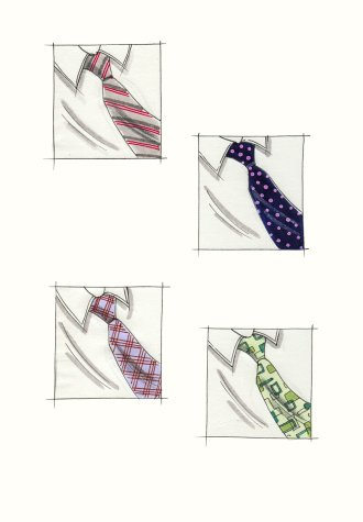 Hilary Kidd Fashion Illustrator Accessories Male