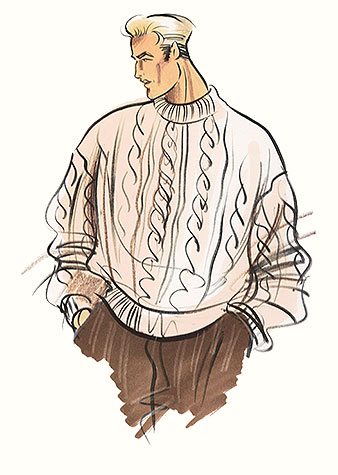 Hilary Kidd Fashion Illustrator Menswear Casual