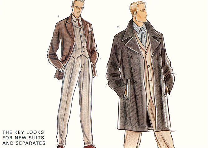 Fashion Illustration Menswear